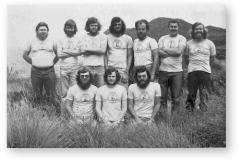 GOUGH 21 (1975-1976): Back (L-R) L. Heinonen, K. Kamfer, G. Luden, G. Wolvaardt, M. Bester, P. Brandt, E.K. Haberer; Front: G. Russouw, D. Keller, W. Winckler.