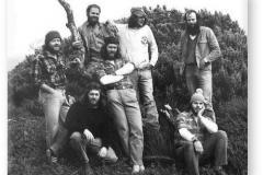 GOUGH 26 (1980-1981): Back (L-R) Peter Stockwell (Radio Technician), John Stone (Diesel Mechanic/Leader), Thys Kotze (Meteorologist), Ian Martin (Medic); Front: Raymond Hilland (Meteorologist), Barnie Barnard (Senior Meteorologist), Gordon Mcintyre (Radio Operator).