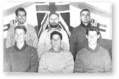 GOUGH 7B (1962): Back (L-R) D.J. Oldewage, D.J. Hobbs, J.J. van der Merwe; Front: S.A. Watt, P.A. le Roux, P.S. Vorster.