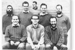 GOUGH 9 (1964): Back (L-R) D.N. Jonker, M. Fourie, A.J. Kriel, D.I. Mynhardt; Middle: G.R. Vallance, L.I. Naude, J. van Rensburg; Inset: J.S. Bouwer.