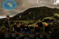 GOUGH 61 (2015-2016): (L-R) Chris Taylor (Birder), Berend Maepa (Meteorologist), Patrick Mangali (Medic), Prince Mlongwana (Meteorologist), S'celo Ndwalane (Diesel Mechanic), Lehlohonolo Rakoteli (Communication Officer), Jan Bradley (Birder), Josef Klaasen (Meteorologist), Derren Fox (Birder).