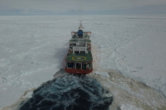 S.A. Agulhas II Breaking Ice