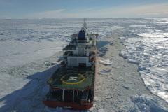 S.A. Agulhas II Breaking Ice