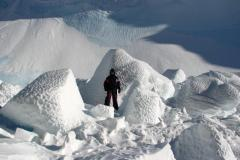 Ice Boulders from Brok and Overhang