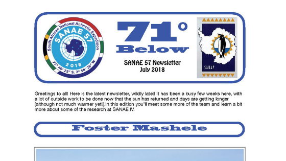 Have you read the latest SANAE Newsletters?