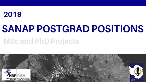 2019 SANAP Postgrad Positions