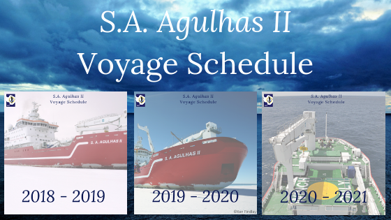 Need to plan ahead? Here is the S.A. Agulhas II Schedule