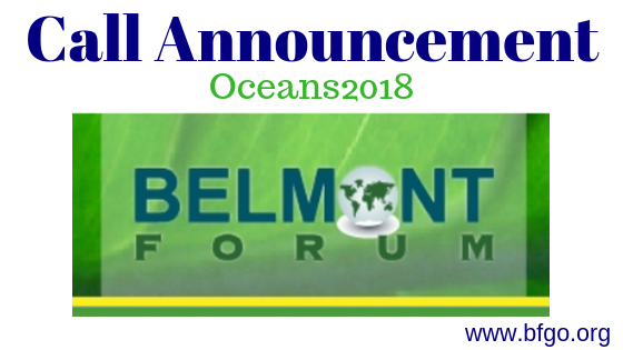 Belmont, Call Announcement, Oceans2018