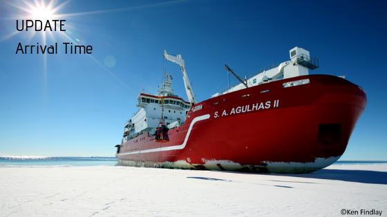 SA Agulhas II, Antarctica, ETA Cape Town