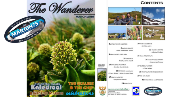 Marion Island March 2019 newsletter now available