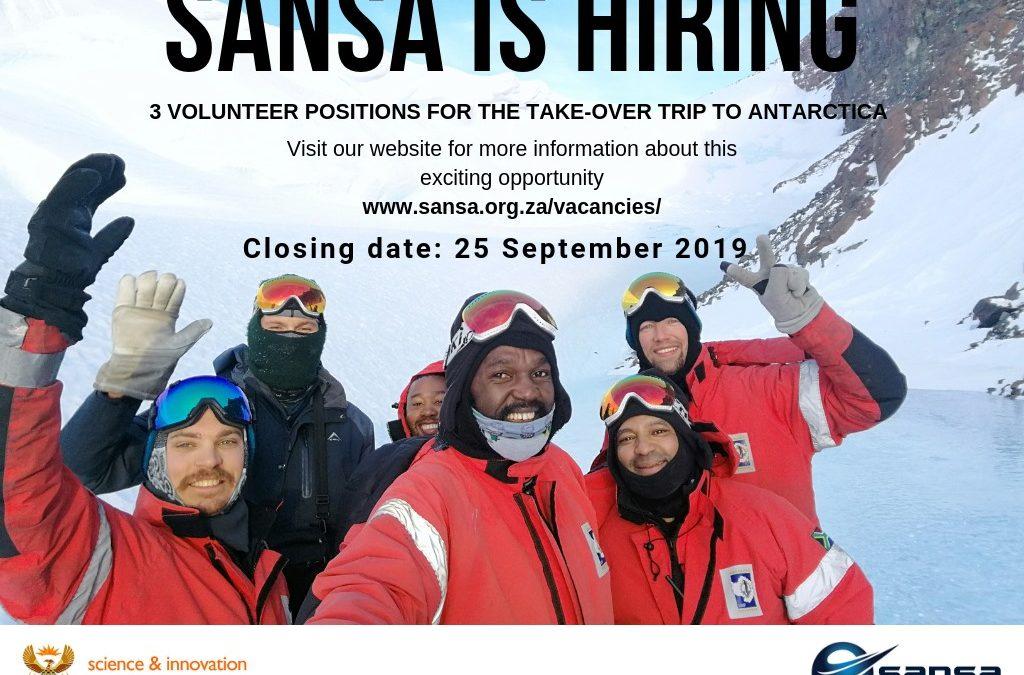 Antarctica – SANSA Volunteer Positions – Applications open