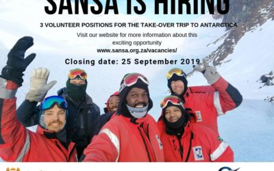 Antarctica – SANSA Volunteer Positions – Applications open
