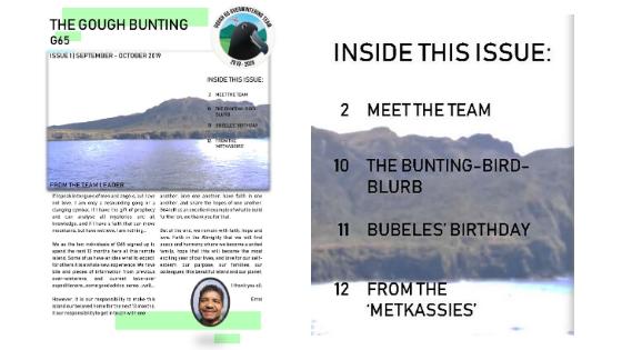 Gough Island September/October 2019 Newsletter now available