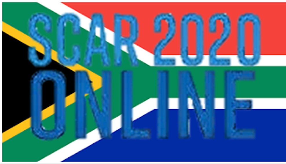 SCAR2020 online – South African participating in Online Conference