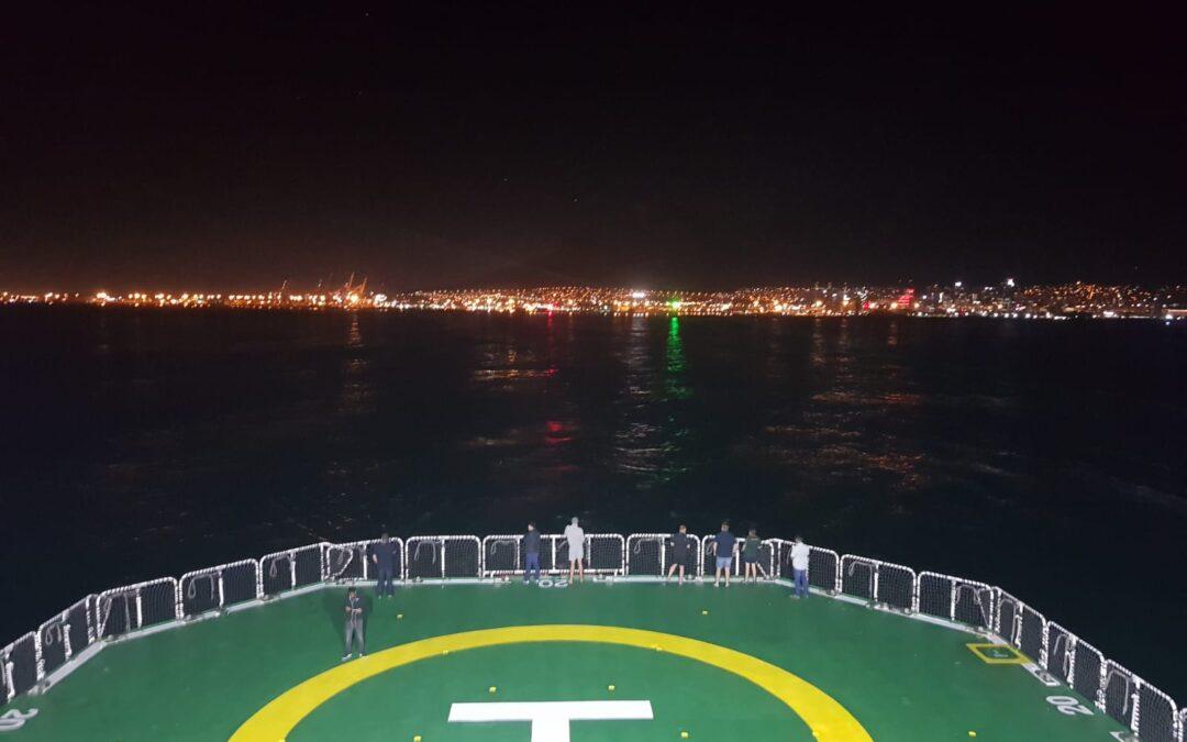 SANAE60 on its way to Antarctica.