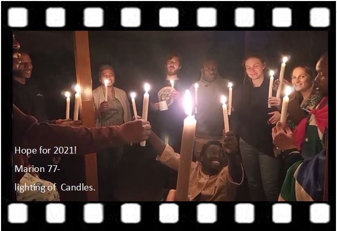 Marion 77 light candles to start 2021!