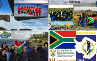 2021 Midwinter Greetings from  –     SANAE 60, Marion 78, Gough 66